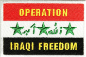 OPERATION IRAQI FREEDOM OIF IRAQ FLAG PATCH - Colour - Veteran Owned Business.
