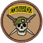 Army Commandos Patrol Patch - 5.1cm Diameter Round Embroidered Patch