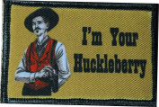 "Tombstone Doc Holiday ""I'm Your Huckleberry"" Morale Patch. Perfect for your Tactical Military Army Gear, Backpack, Operator Baseball Cap, Plate Carrier or Vest. 5.1cm x 7.6cm Hook Patch. Made in the USA"