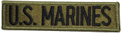 TAB US MARINES size11.5 x 3cm. Logo Jacket Vest shirt hat blanket backpack T shirt Patches Embroidered Appliques Symbol Badge Cloth Sign Costume Gift