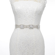 Remedios Unique Rhinestones and Flower Bridel Sash Wedding Belt for Birde Women Ladies