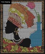 Sankofa (afro) black woman bling Iron on Transfer