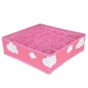 mengzhiling Pink Cloth Storage Boxes Organiser for Underwear Bra Folding Closet Drawer Divider Boxes Set of 3