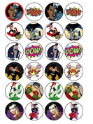 24 x Batman Characters (#2) Cupcake Cake Toppers