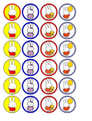 24 x Miffy Cupcake Cake Toppers