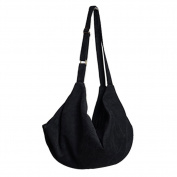 Artone Casual Velvet Crossbody Hobo Travel Shoulder Bag Black