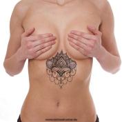 1 x Lotus Mandala Flower Tattoo - Indian Mandala Lotus Flower temporary Tattoo - No China