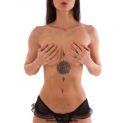 1 x Mandala Flower Tattoo - Indian Mandala Flower of Life temporary Tattoo - No China