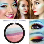 Eyeshadow ,Saingace 6 Colours Rainbow Highlight Eyeshadow palette Baked Blush Face Shimmer Colour
