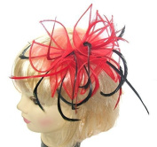 Stunning Red and Black Fascinator for special occasions