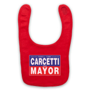 Inspired by The Wire Carcetti For Mayor Unofficial Baby Bib, Red
