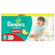 Pampers Baby Dry Pants Size 5 Mega Box Plus 84 per pack