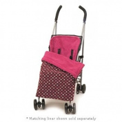 BB010 Stay-Put Reversible Buggy Blanket. Pink polka dot