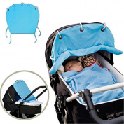 VWH Baby Pram Shade stroller Pushchair Sunshade Curtain Sun Covers Blue
