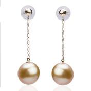 Berry Ya 18k gold round with flawless Nanyang natural sea pearl earrings earrings B17212