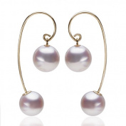 Berry Ya natural round bead Akoya sea pearl 18K gold earrings earrings B17212