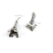 50 Pairs Earrings Antique Silver Tone Fashion Jewellery Making Charms Ear Stud Hooks Suppliers Wholesale YEGY00427 Paris Eiffel Tower