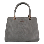 Tom & Eva 6257 Snake Vein bag Dark Grey