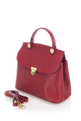 Laura Moretti - Leather bag with metal closure