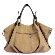 Tiebs Vintage Canvas Purse Large Handbag Hobo Nappy Handbag