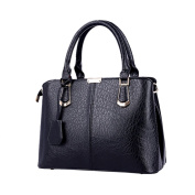 iTECHOR Fashionable PU Leather Women Handbag Tote Shoulder Bag ladies handbag - Black