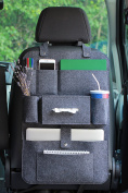Car Back Seat Organiser with Multi Pocket Felt Lucky Sign-SiPre