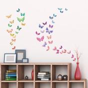 Decowall,DW-1602,Watercolour Butterflies peel & stick wall decals stickers