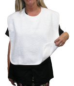 Adult terry bib, pack of 3 units, 50 x 60 cm. cotton 340 GSM