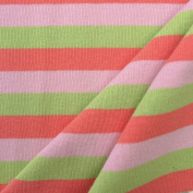 USA Made Premium Quality 100% Combed Cotton Striped 1 x 1 Rib Knit Fabric by the Yard - 1 Yard