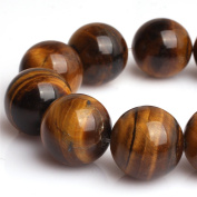Natural Round Tiger Eye Stone Gemstone Beads For Jewellery Making Loose Beads In Bulk Wholesale Beads Handmade DIY One Strand 15""