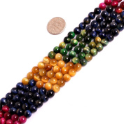 """Tiger Eye Gemstone Loose Beads In Bulk For Jewellery Making Wholesale Beads One Strand 15 1/2"""""""
