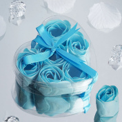 BalsaCircle 50 Gift Boxes with 6 Rose Soaps - Blue
