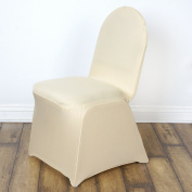 BalsaCircle 25 pcs Banquet Spandex Stretchable Chair Covers - Champagne