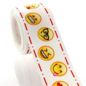 3.8cm Emoji Grosgrain Ribbon 5 Yard