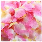 Outtop 1000pcs Multicolor Silk Rose Artificial Petals Wedding Party Flower Favours Decor