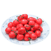 Outtop 50 Pcs 3D Artificial Plastic Cherry Fruit Real Touch for Home Decoration Decor