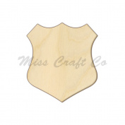 Badge Plaque Wood Shape Cutout, Wood Craft Shape, Unfinished Wood, DIY Project. All Sizes Available, Small to Big. Made in the USA. 25cm X 23cm