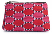 Lulu Guinness Lips Stripe Print Large Cosmetic Make-up Wash Bag