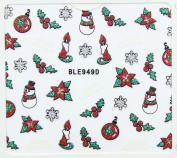 Nail Art 3D Glitter Stickers - Christmas