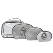Mathilde M - Clear Toiletry Bag with 3 Assorted Make-up Pouches