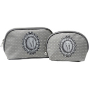 Mathilde M - 2 Assorted Toiletry Make-up Bags
