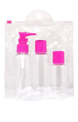 Travel Bottles Kit Pinkish white