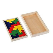 Veroda Wooden Pentomino Puzzle Brain Teaser Mind Novelty Trick Kids Learning Toys