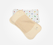 Sleepy Stars Extra Soft Washable Breathable 100% Organic Cotton Toddler Pillow with Pillowcase, 40x23x3cm