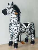 UFREE Zebra, Ride-on Toy, Giddyup N' Go Go Pony , Height 90cm , Cowboy Ride on Rocking Horse Toy, for Ages 3-5 Years, Cool and Fun Childhood Experience