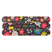 Floral Love You More 15cm Womens Salon-Style Nail File Emery Boards Set of 3 by Brownlow Gift