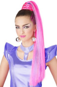 Pink & Purple Cosmic Ponytail with Hairscara by California Costumes