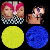 """New Eyeshadow Pigment Myo Ultra Bright Matte """"Ultra Bright Yellow"""" & """"Ultra Bright Cobalt"""" Mica Cosmetic Mineral Makeup 3 Gramme Small Size"""