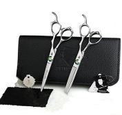 Smith Chu 15cm Professional Hair Scissors Blue Stone Cutting & Thinning Shear