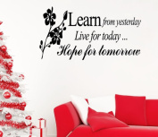 Learn FromFheaven Yesterday Family Love Art Wall Quotes Wall Stickers Wall Decals
